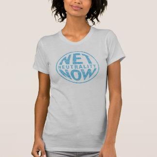 T-shirt De neutralité graphique bleu net maintenant -