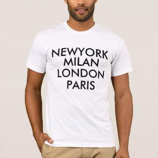 T-shirt de Newyork Milan Londres Paris