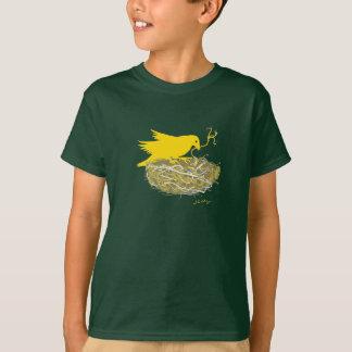 T-shirt de nid d'oiseau de Steampunk