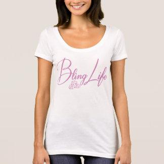 T-shirt de niveau de cou de scoop de la vie de