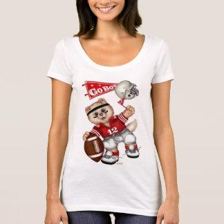 T-shirt de niveau de cou du scoop des femmes de
