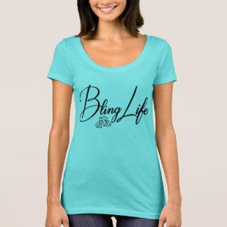 T-shirt de niveau de cou du scoop des femmes de la