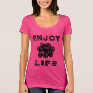 """T-shirt de niveau des femmes """"appréciez vie"""" le"""