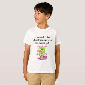 T-shirt de Noël avec le présent