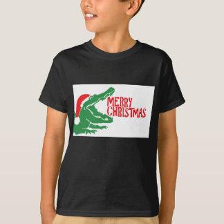 T-shirt de Noël d'alligator