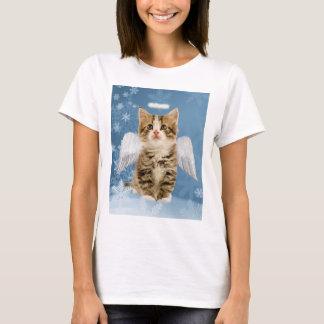 T-shirt de Noël de chaton d'ange