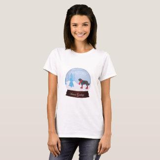 T-shirt de Noël de chien de Terre-Neuve