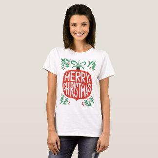 T-shirt de Noël de festival de vacances de Joyeux