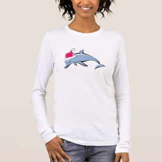 T-shirt de Noël de Père Noël de dauphin