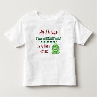 T-shirt de Noël de soeur de bébé