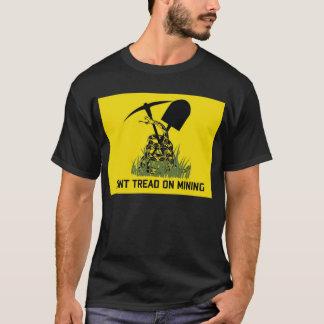 T-shirt de noir de drapeau de mineurs