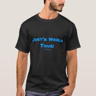 T-shirt de noir de tour du monde de Joey !
