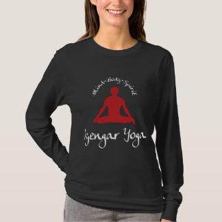 T-shirt de noir de yoga d'Iyengar