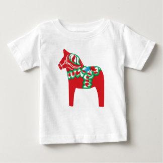 T-shirt de nourrisson de cheval de Dala