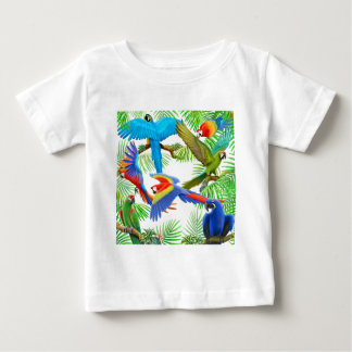 T-shirt de nourrisson de jungle d'ara