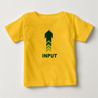 T-shirt de nourrisson d'entrée-sortie