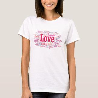 T-shirt de nuage de mot d'AMOUR