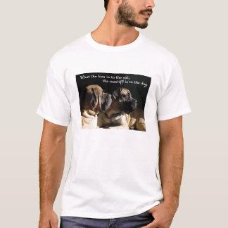 T-shirt de paires de mastiff