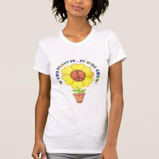 T-shirt de paix de plante