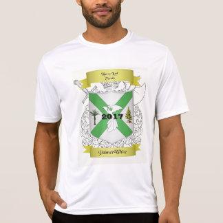 T-shirt de Palmer/d'hommes blancs de la Réunion de