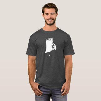 T-shirt de papa d'état d'Île de Rhode