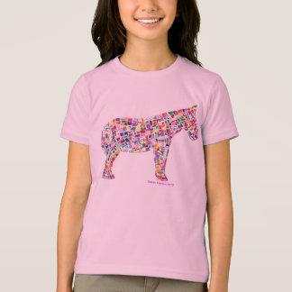 T-shirt de papier de cheval de mosaïque de Helena