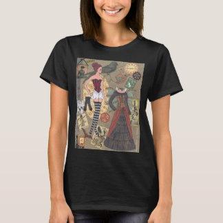 T-shirt de papier fantaisie d'art de poupée de