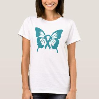 T-shirt de papillon de Cancer ovarien