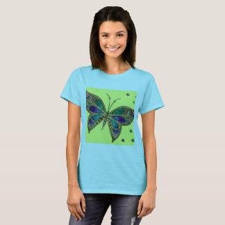 T-shirt de papillon de fibromyalgie dans le bleu