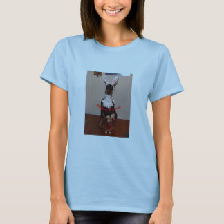 T-shirt de Pâques avec le dobermann