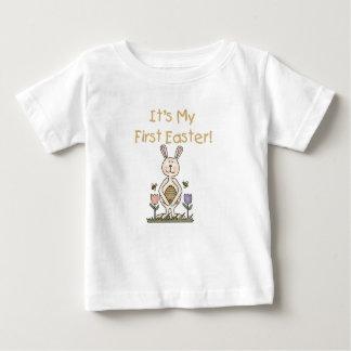 T-shirt de Pâques de lapin de garçon premier