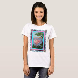 T-shirt de paradis de flamant