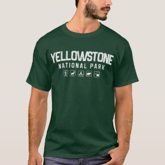 T-shirt de parc national de Yellowstone (foncé)