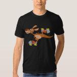 T-shirt de patinage de kangourou de bande dessinée