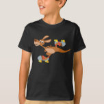 T-shirt de patinage d'enfants de kangourou de