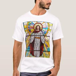 T-shirt de peinture murale en verre souillé de