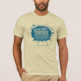 T-shirt de pensée de ciel bleu de marque de confit