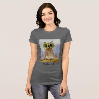 T-shirt de perle de hibou de Lampwork