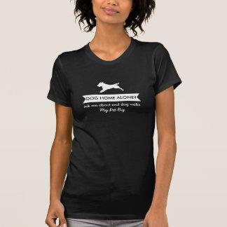 T-shirt de personnel de marcheur de chien -