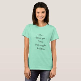T-shirt de pétales et de plume et de velours