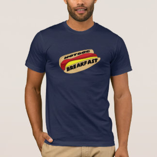 T-shirt de petit déjeuner de hot dog