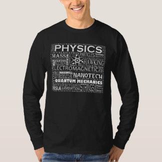 T-shirt de physique sur l'obscurité