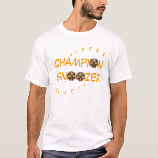 "T-shirt de pièce en t ""de Snoozer de champion"""