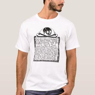 T-shirt de pierre tombale de crâne de cimetière -