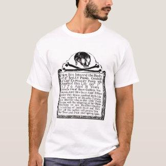 T-shirt de pierre tombale de crâne de cimetière
