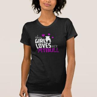 T-shirt de pitbull pour la femme