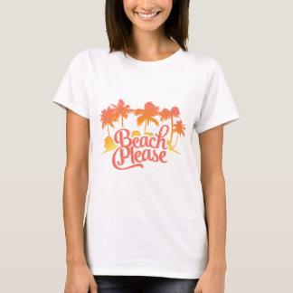 T-shirt De plage la pièce en t des femmes drôles de