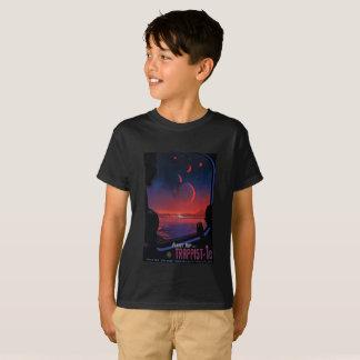 T-shirt de planètes du Trappist des enfants