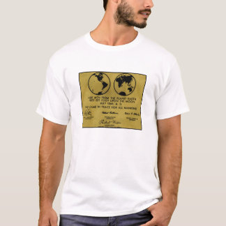 "T-shirt de ""PLAQUE d'APOLLO"" de bronze"