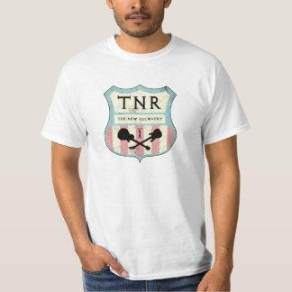 T-shirt de plaque de rue de TNR (mousse, crème et